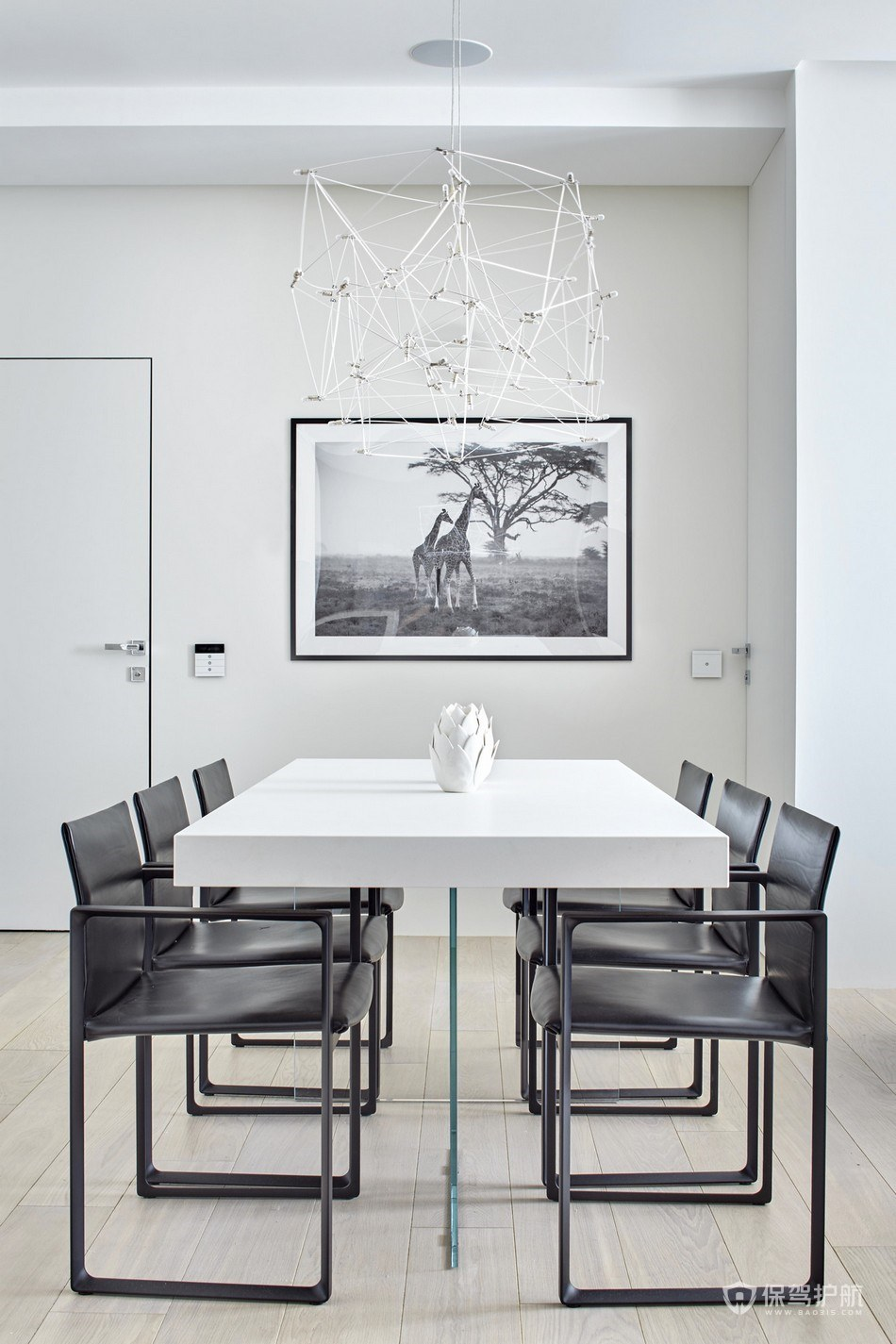 现代极简风四居室餐厅装修效果图