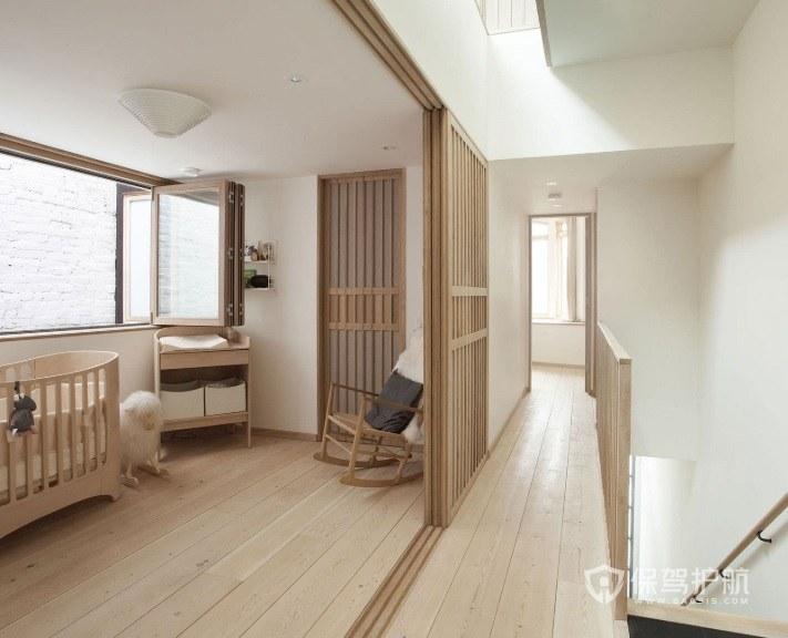 复式楼日式禅意婴儿房装修效果图