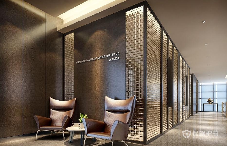 现代轻奢风办公门厅装修效果图
