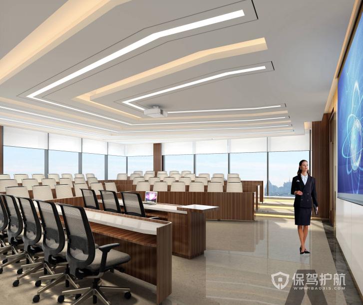 后现代开放式会议厅装修效果图