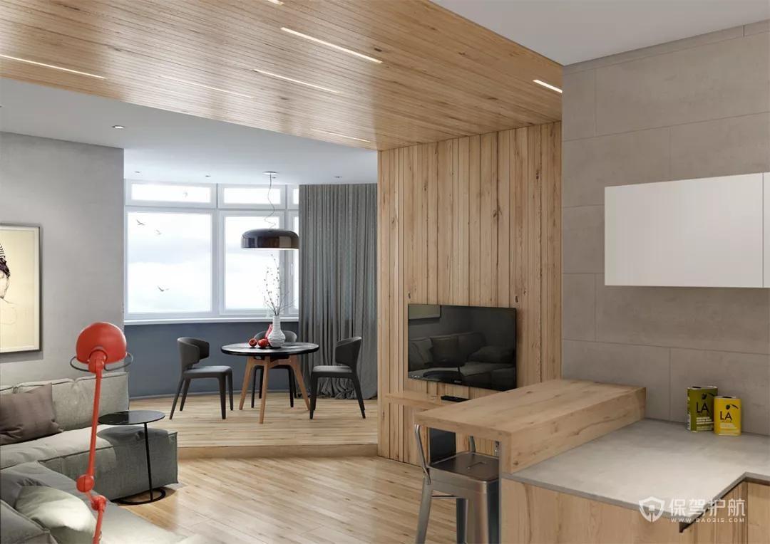 简约风单身公寓客厅装修效果图