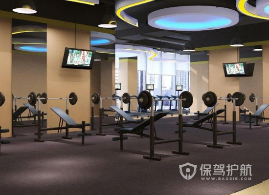 60平米現代風格健身房裝修實景圖