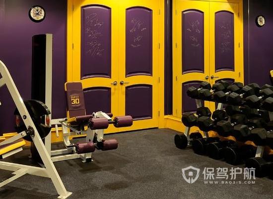 80平米歐式風格健身房裝修實景圖