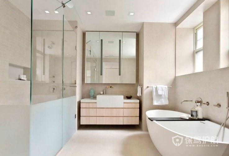 日式簡約風衛生間浴室柜裝修效果圖