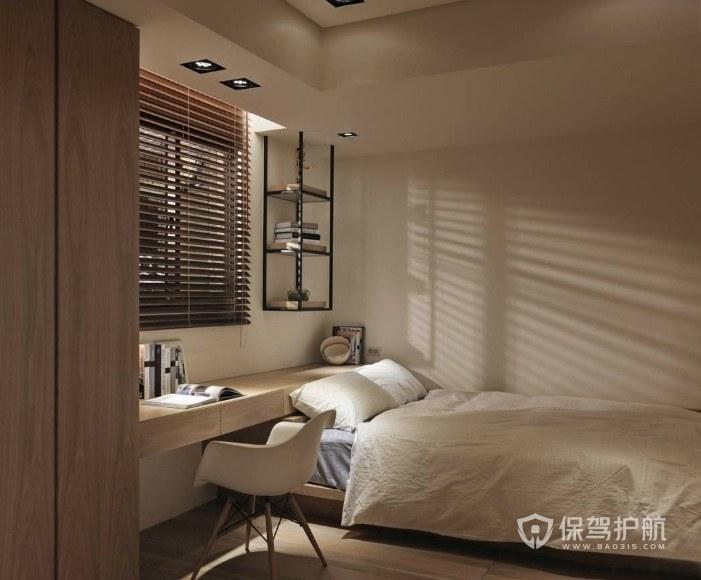 小户型日式卧室折叶窗帘装修效果图
