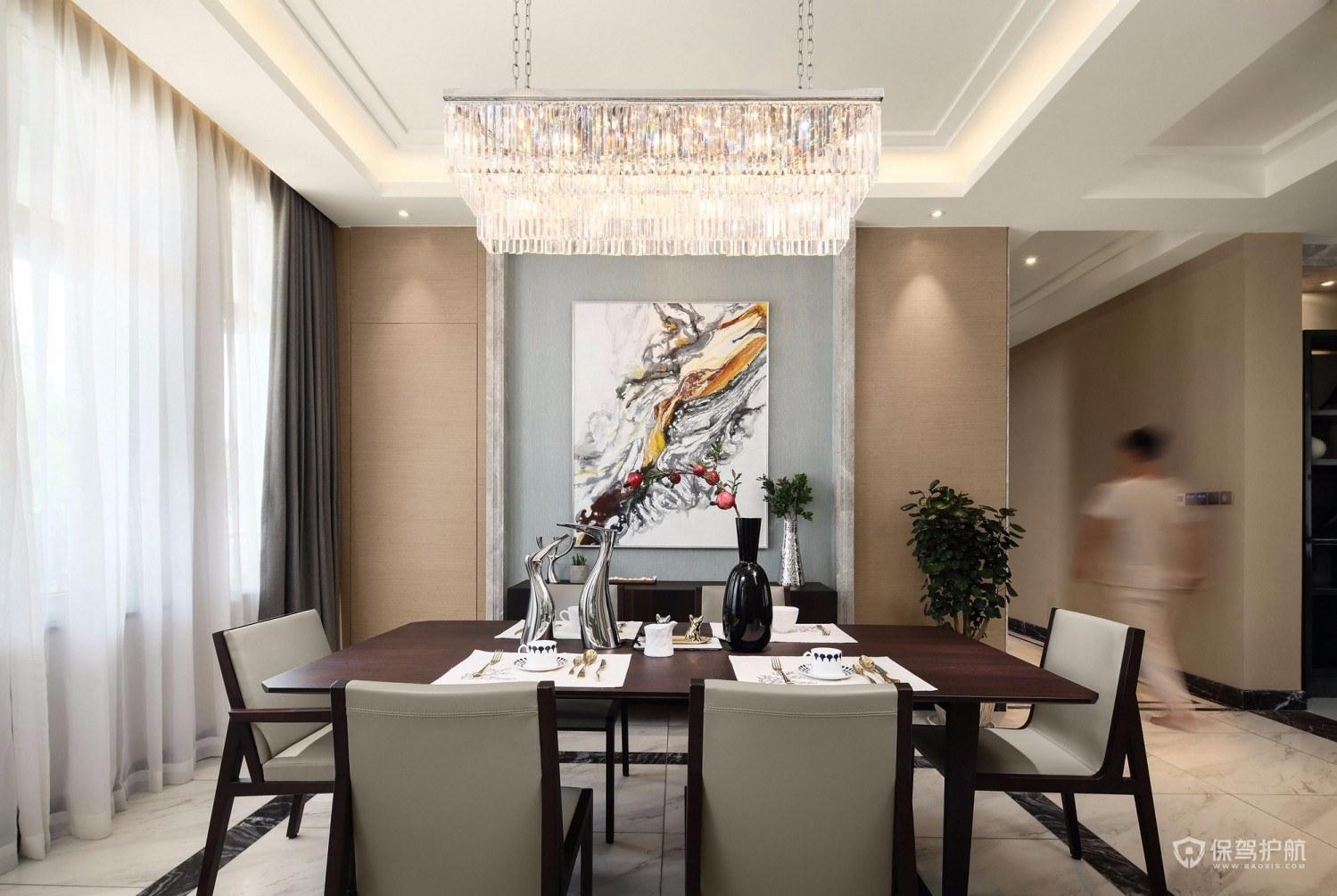 现代海派风四居室餐厅装修效果图