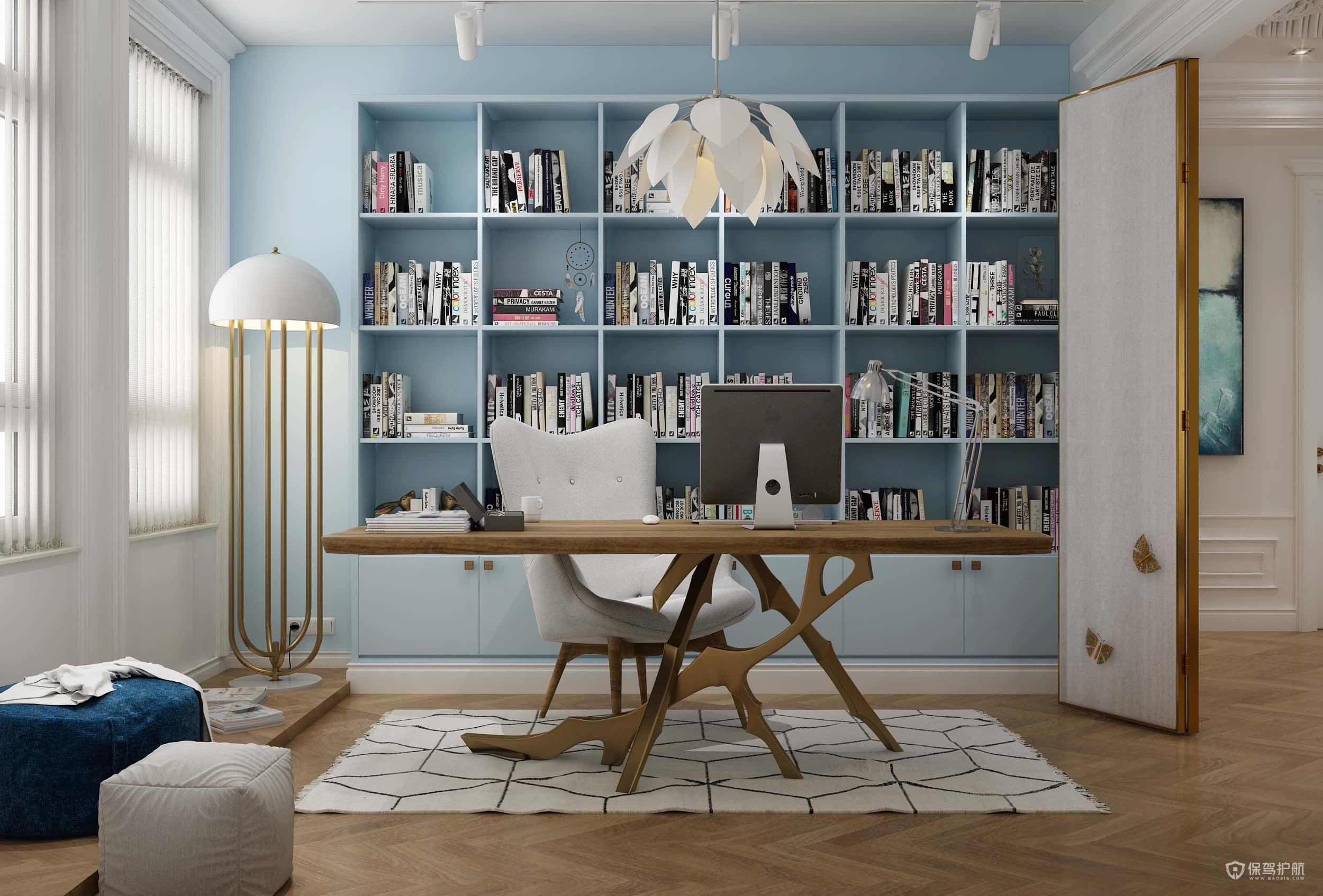 简约风格四居室书房装修效果图