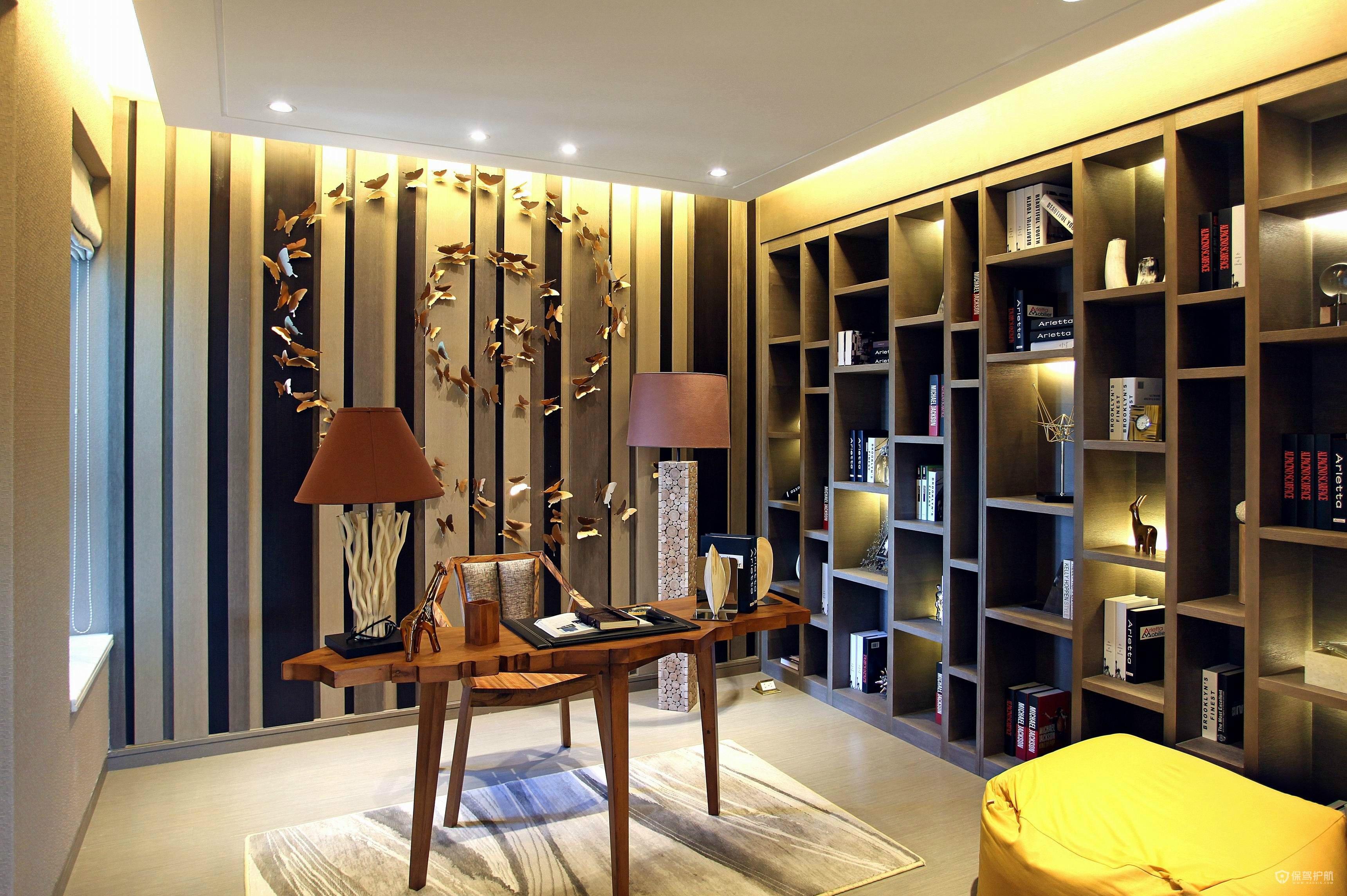 现代风精装修四居室书房装修效果图