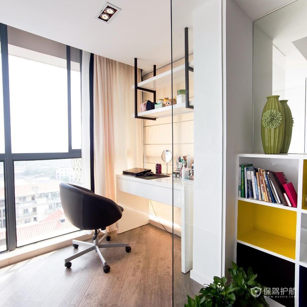 現代風格二居室陽臺書房裝修效果圖