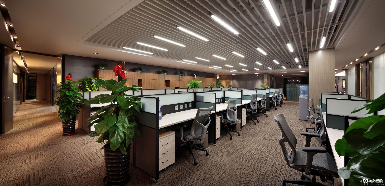 互联网公司现代风格办公室装修效果图