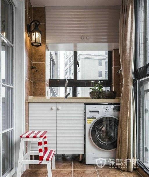 小户型阳台简约组合柜装修效果图