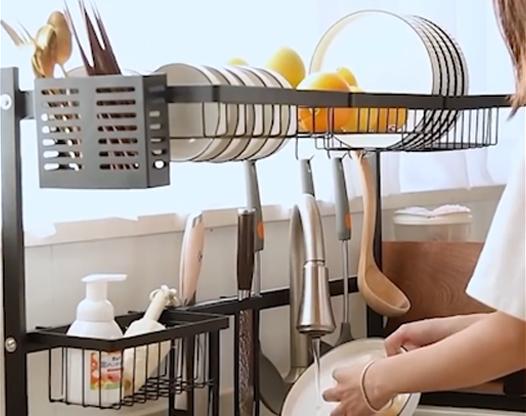 厨房沥水架:难怪别人家厨房这么好用!