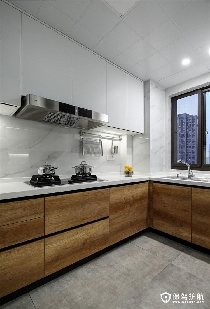盛景天地公馆129平现代风格三居室装修效果图