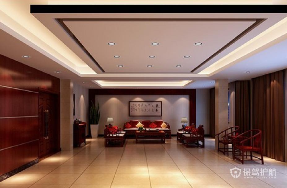 中式风格办公待客室装修效果图