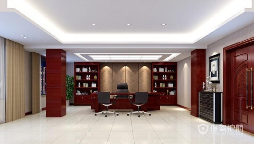 中式风格总监办公室装修效果图