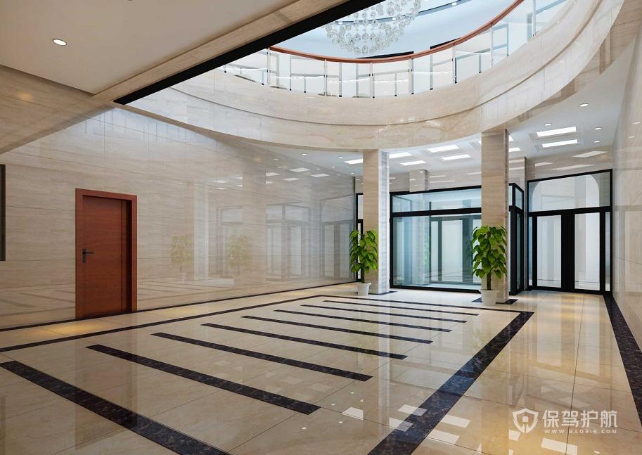 国企办公楼大厅装修效果图
