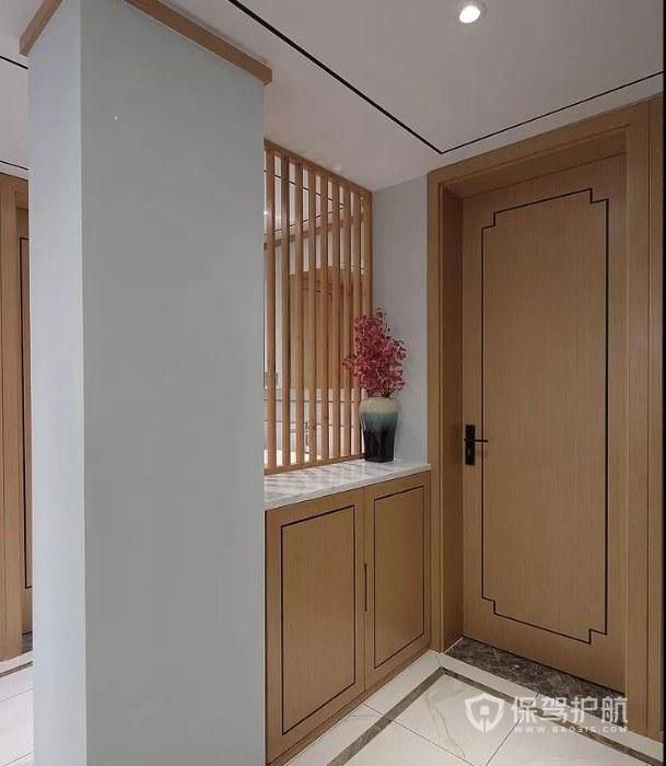 新中式风格玄关鞋柜装修效果图