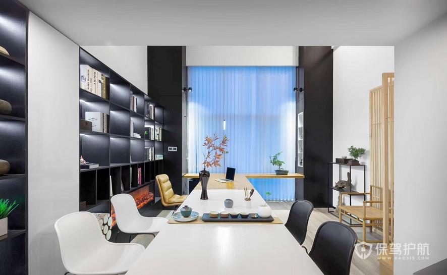 现代日式风茶接待室装修效果图