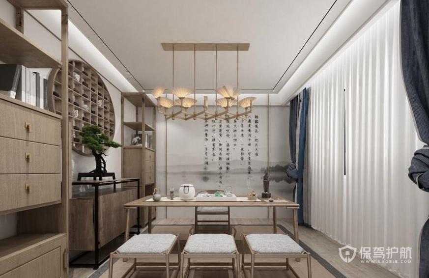 新中式泡茶待客室装修效果图