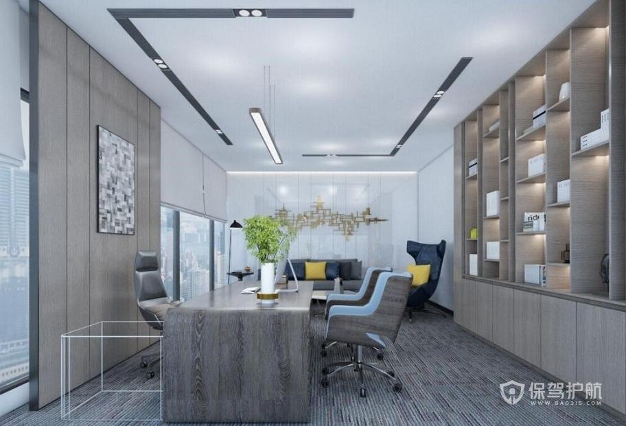 轻奢新中式总监办公室装修效果图