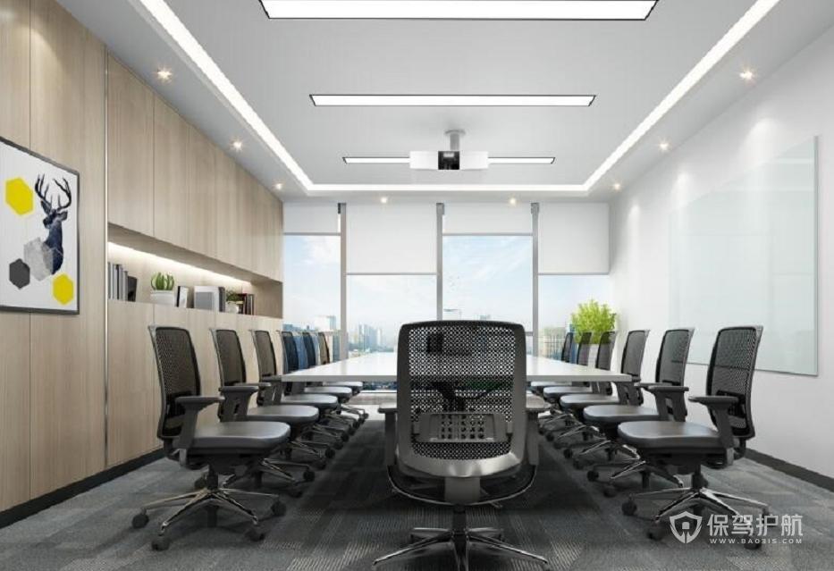 轻奢风格公司会议室装修效果图
