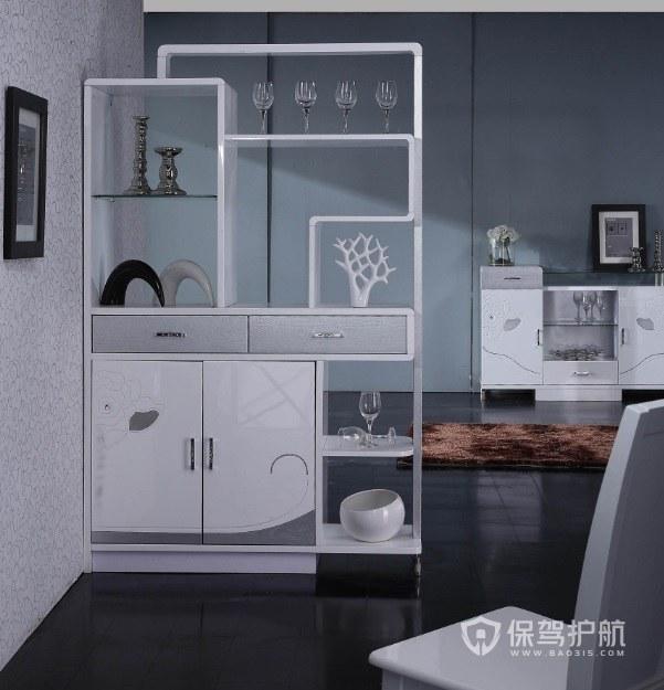现代客厅简约隔断装饰柜装修效果图