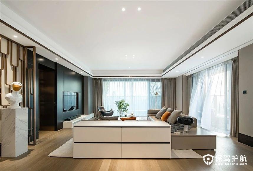 128平三室两厅轻奢风三居室装修效果图