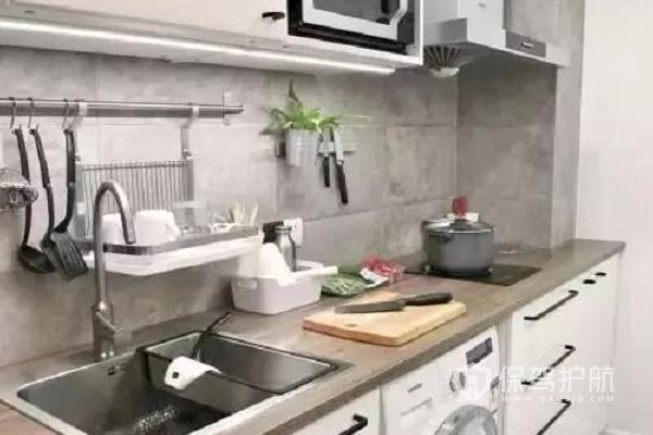 小公寓厨房装修效果图-保驾护航装修网