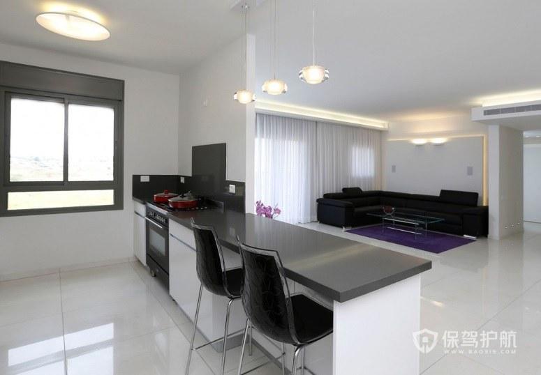 客厅与厨房隔断吧台装修效果图
