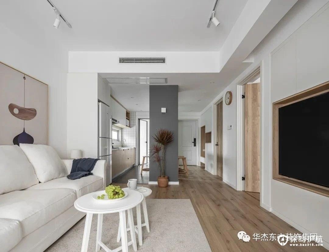 87㎡现代北欧风格二居室装修效果图