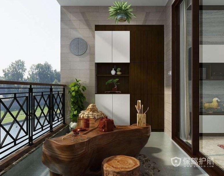 阳台如何设计杂物柜? 阳台杂物柜效果图图片