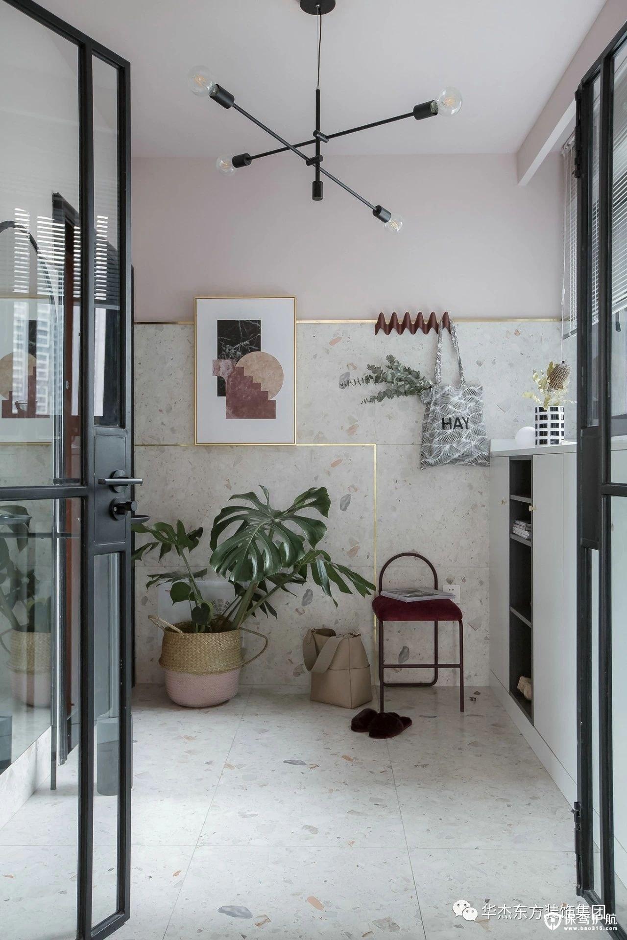 102㎡北欧风格三居室装修效果图