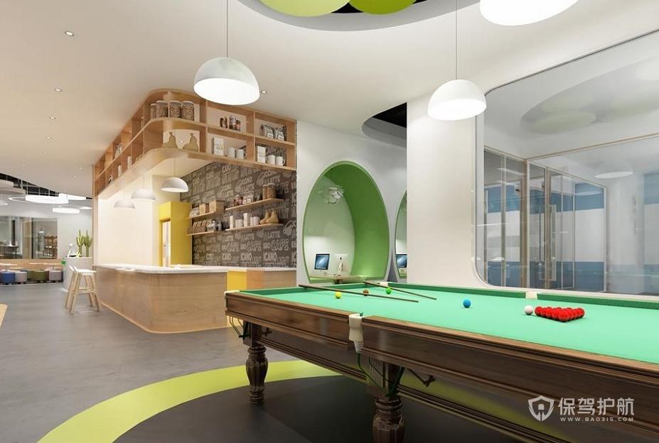 后现代风格办公休闲区装修效果图