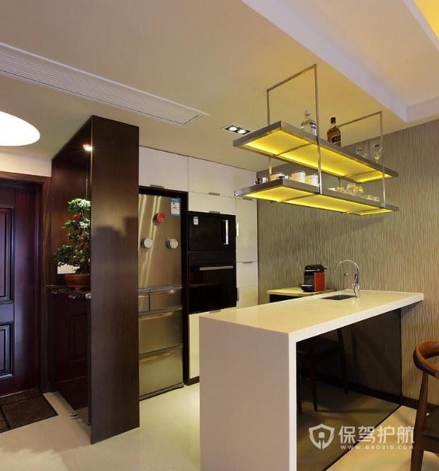现代风三室一厅餐厅吧台装修效果图