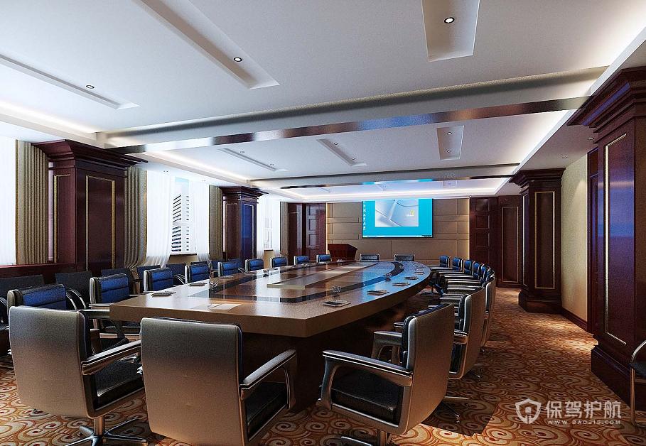 新古典风格多媒体会议室装修效果图