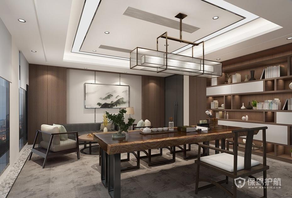 新中式风格泡茶待客室装修效果图