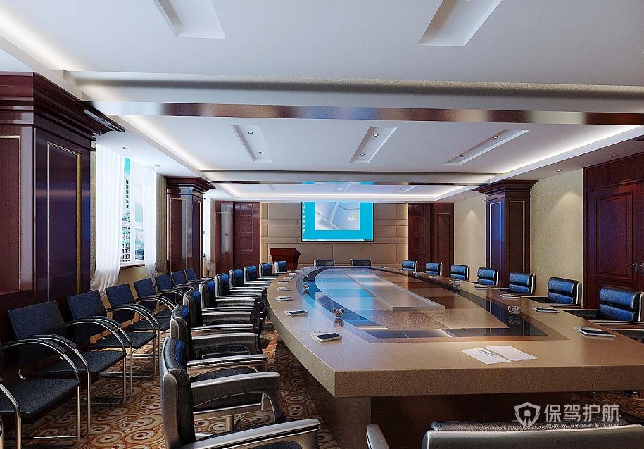 新古典风格办公大会议室装修效果图