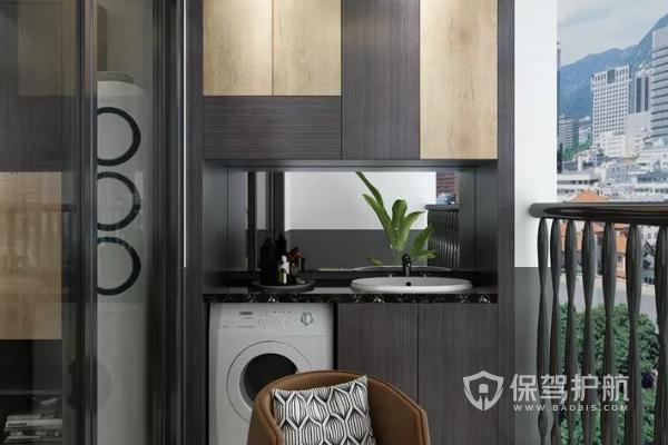 阳台洗衣机组合柜尺寸多少?阳台洗衣机组合柜图片