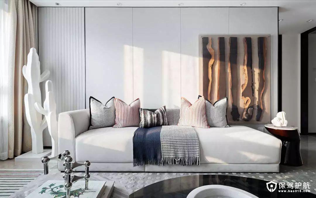 85平现代北欧三居室装修效果图