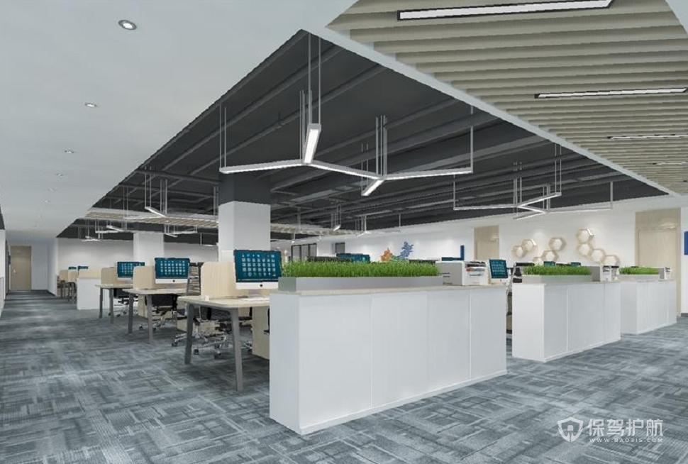 北欧工业风办公室办公区装修效果图