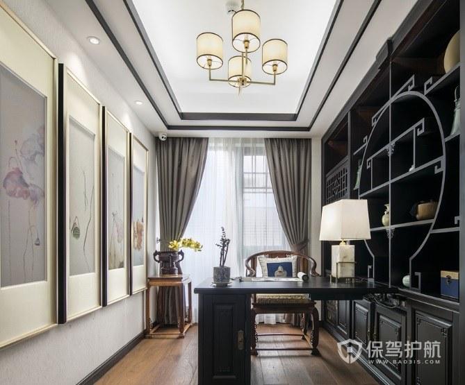 新中式灯具有哪些特点? 新中式书房灯具效果图