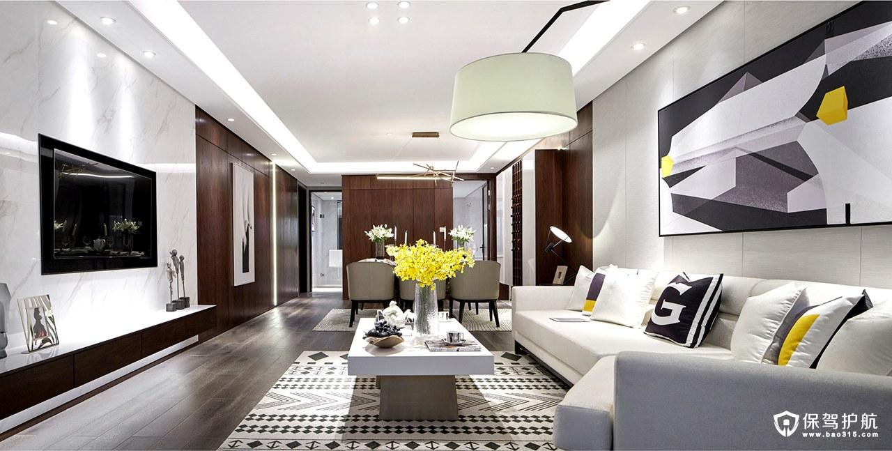 137平现代轻奢风格四居室装修效果图