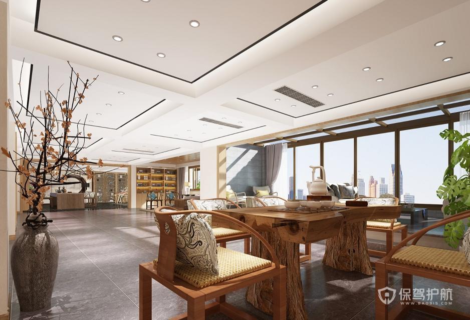 新中式大户型泡茶待客室装修效果图