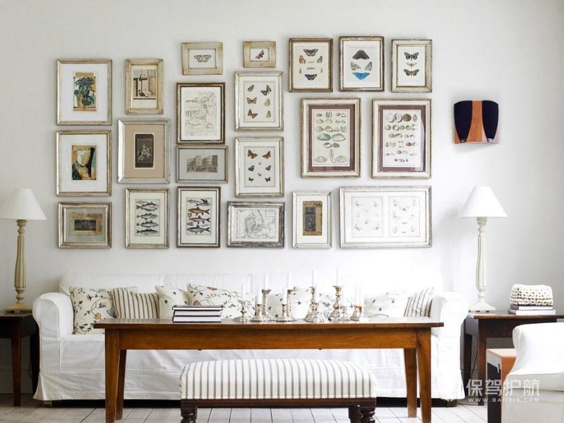 简欧风小户型客厅照片墙装修效果图
