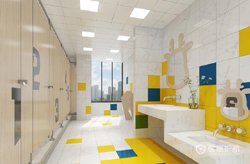 现代创意办公室卫生间装修效果图