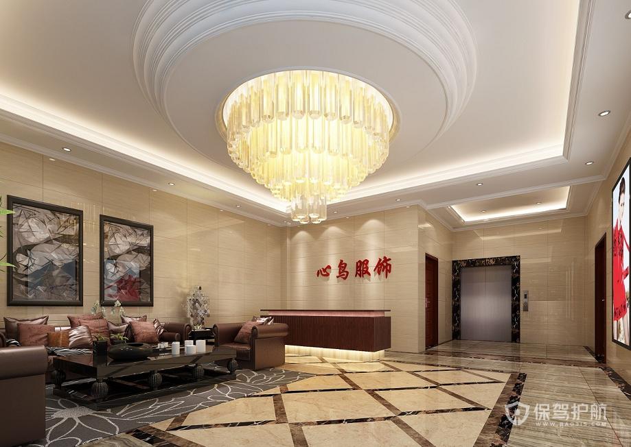 欧式风格办公待客室装修效果图