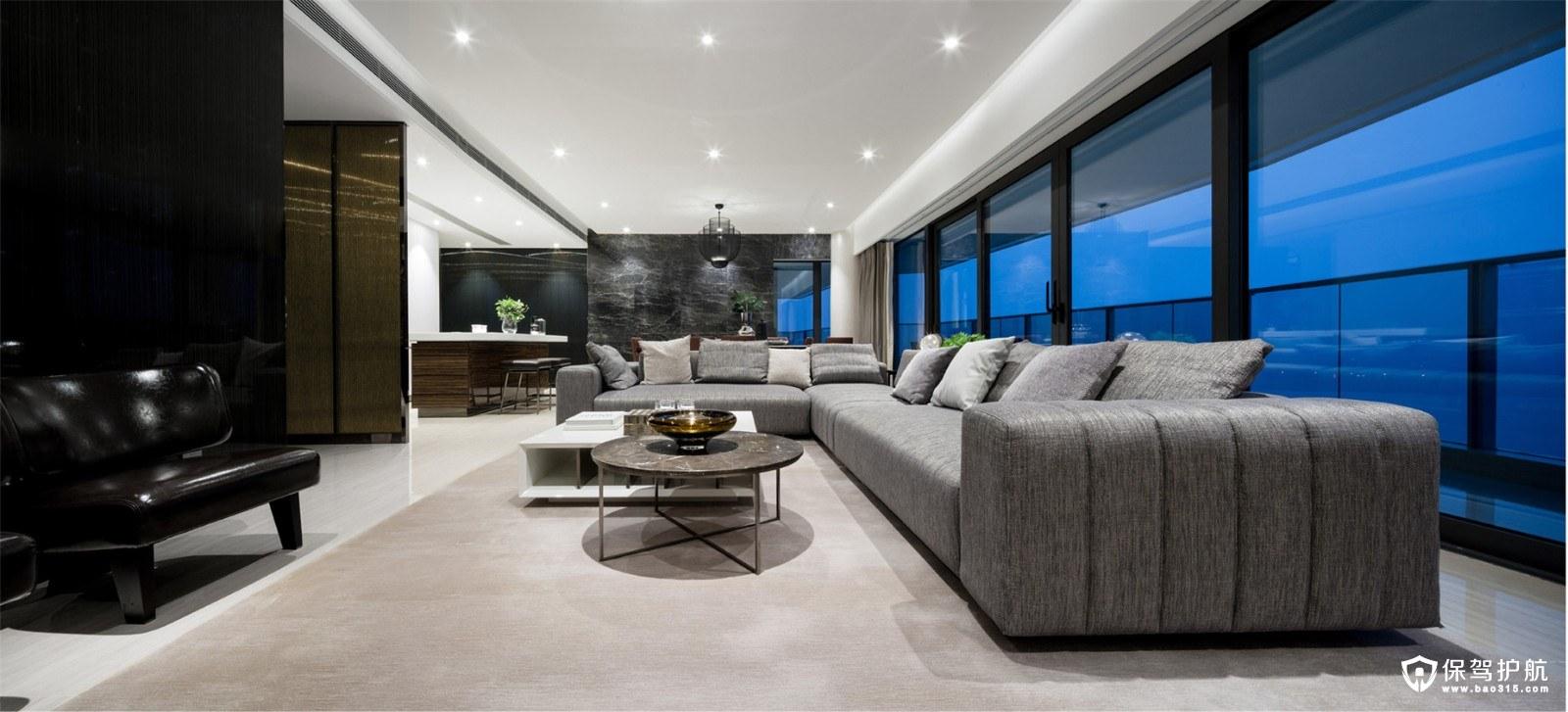 269㎡现代风格四室两厅装修效果图