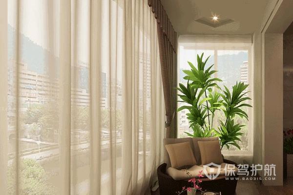 不同类型阳台怎么配窗帘?U型阳台窗帘效果图