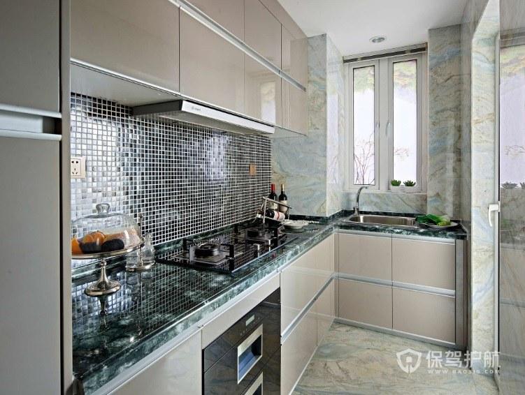 5平方公寓L型小厨房装修效果图