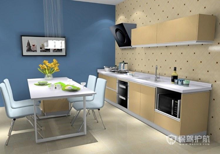 开放式一字型小厨房装修效果图